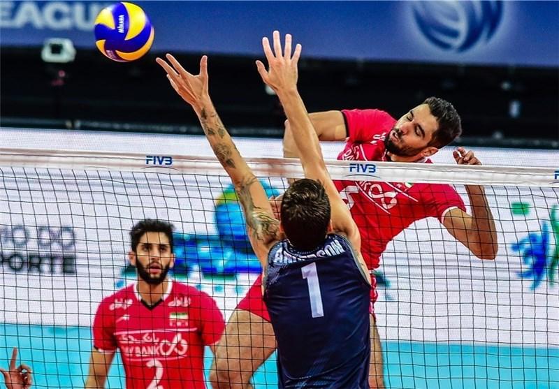 والیبال ایران آمریکا محمد موسوی