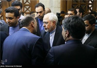 حضور محمد جواد ظریف وزیر امورخارجه در مراسم بزرگداشت حمید سبزواری