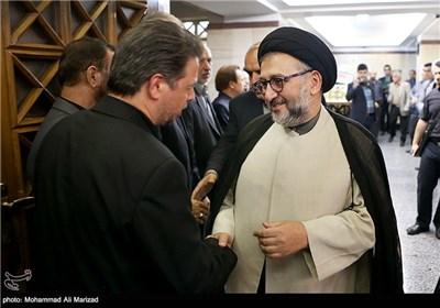 حضور حجت الاسلام ابطحی در مراسم بزرگداشت حمید سبزواری