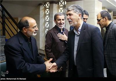 حضور صالحی معاون فرهنگی وزارت ارشاد در مراسم بزرگداشت حمید سبزواری
