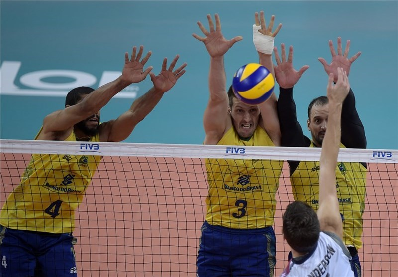 Iran Volleyball Team Loses to Brazil in Friendly