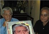کیک جشن تولد «عزت الله انتظامی»