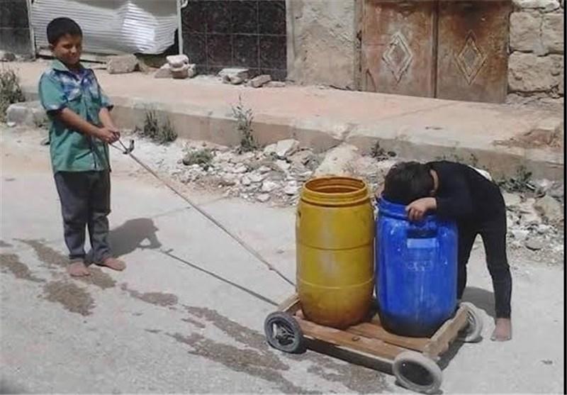 معاناة أهالی کفریا والفوعة المحاصرتین بریف إدلب خلال شهر رمضان +صور