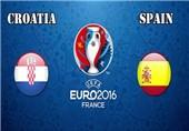 اعلام ترکیب اصلی تیمهای اسپانیا و کرواسی