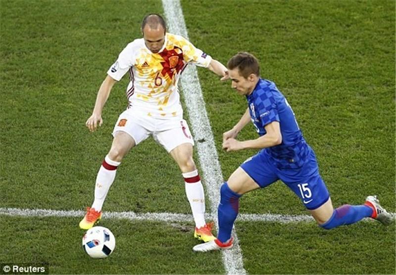 تساوی اسپانیا و کرواسی در نیمه اول