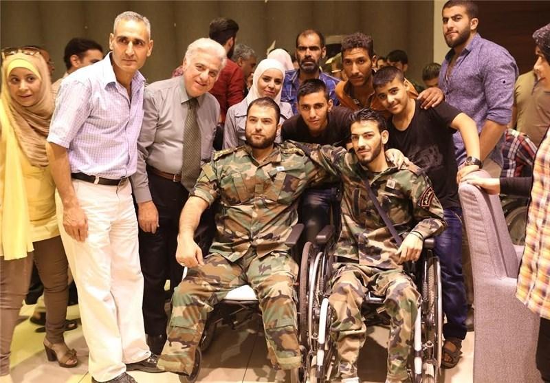 مجروحان ارتش سوریه