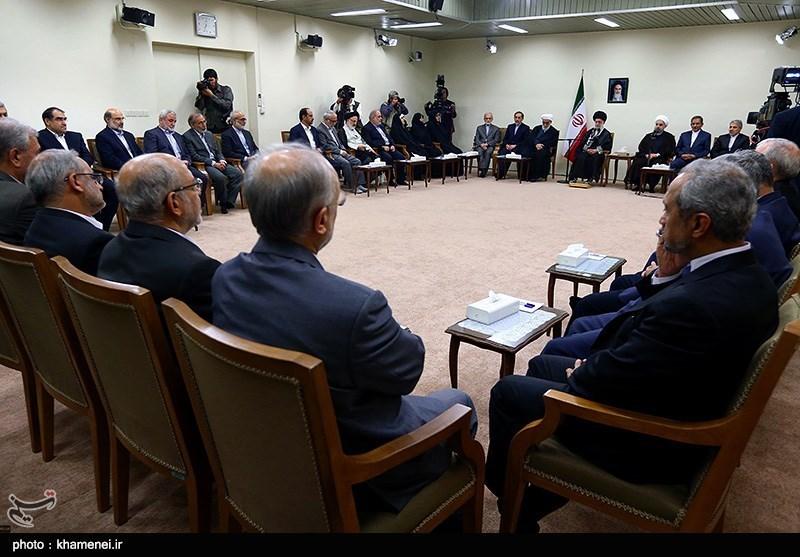 دیدار رئیسجمهور و اعضای هیئت دولت با رهبرمعظم انقلاب