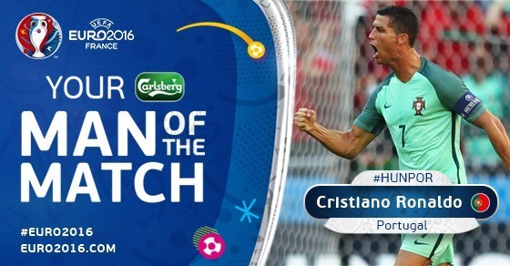 رونالدو بهترین بازیکن دیدار مجارستان - پرتغال شد