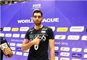 موسوی امتیازآورترین بازیکن ایران در بازی مقابل صربستان شد