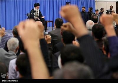 دیدار خانوادههای شهدای هفتم تیر و مدافع حرم با مقام معظم رهبری
