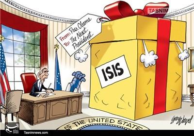 کاریکاتور/ هدیه اوباما به رئیسجمهور آینده آمریکا!