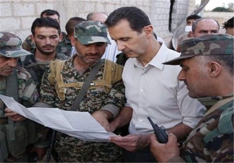 الرئیس الأسد یزور جبهات القتال فی الغوطة الشرقیة