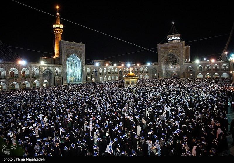 مراسم احیای شب بیست و سوم رمضان در حرم امام رضا(ع)