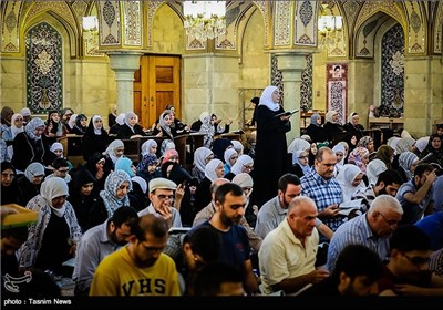 إحياء ليالي القدر في حرم السيدة رقية(ع) بدمشق
