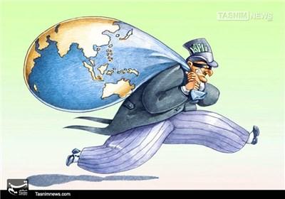 کاریکاتور/ سرقت منابع زمین