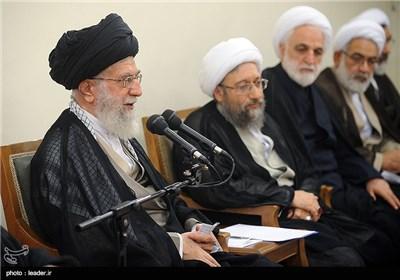 الإمام الخامنئي يستقبل رئيس ومسؤولي السلطة القضائية