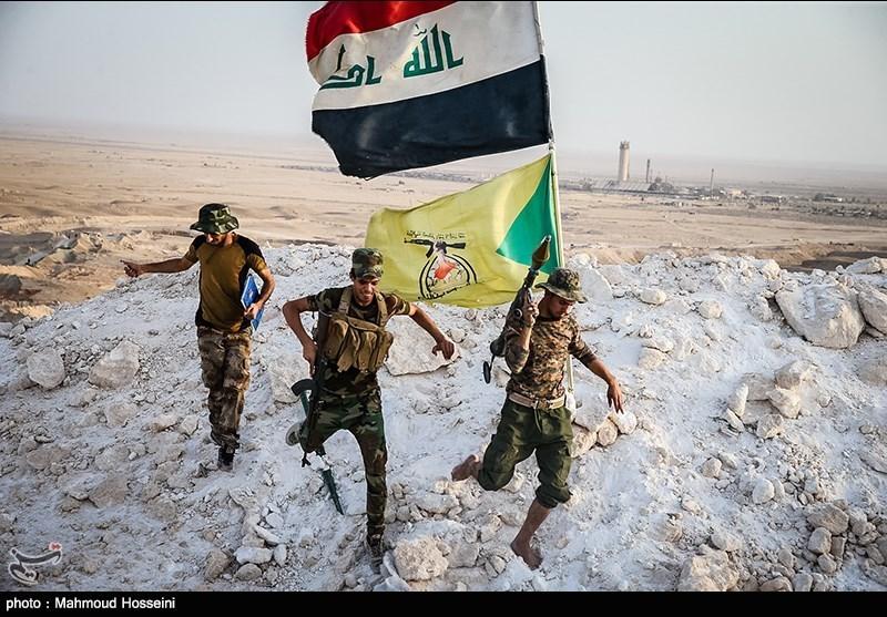رزمندگان کتائب حزب الله عراق در ارتفاعات منطقه عملیاتی مکحول