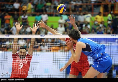 Iran Volleyball Suffers Loss in Straight Sets against Italy