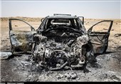 انهدام یک خودرو و مخفیگاه داعشیها در استان الانبار عراق