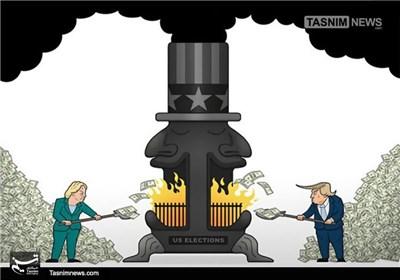 کاریکاتور/ هزینههای سرسامآور انتخابات آمریکا