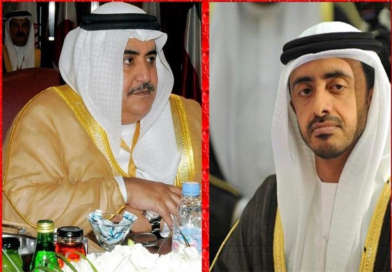 خالد بن أحمد آل خلیفة و عبد الله بن زاید
