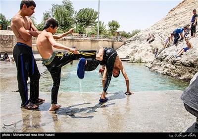 توقف عملیات مترو تا بازگشت آب چشمه علی چند هزارساله