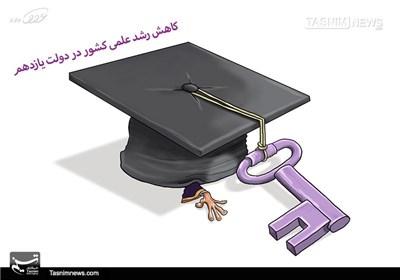 کاریکاتور/ کاهش رشد علمی کشور در دولت یازدهم