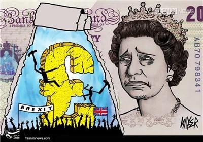 کاریکاتور/ سقوط چشمگیر ارزش پوند