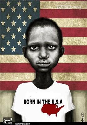 کاریکاتور/ تیراندازی به سیاهپوستان را متوقف کنید