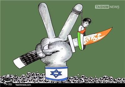 کاریکاتور/ سکوت سازمانهای حقوقبشری در برابر جنایات صهیونیستی