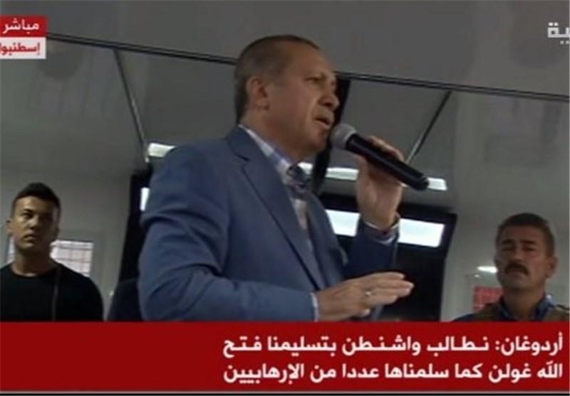 اردوغان: آمریکا گولن را تحویل ترکیه دهد/ یلدریم: مردم به میادین شهر سرازیر شوند/ترکیه مرز خود با سوریه را بست/ بازداشت 2839 کودتاچی