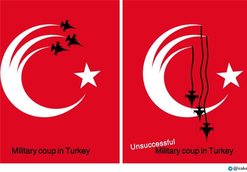 طرح گرافیکی کودتا ترکیه