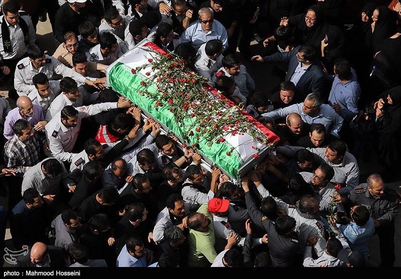 تشییع شهید آتش نشان علی قانع