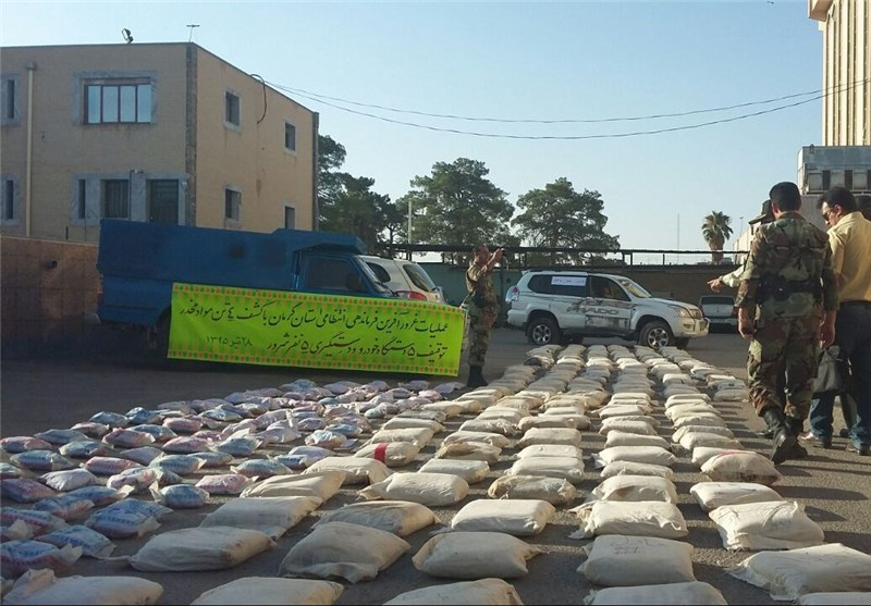 Over 4 Tons of Illicit Drugs Seized in Iran's Southern Province