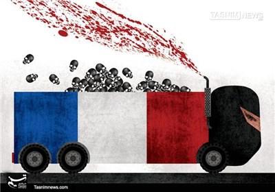 کاریکاتور/ موج خون در جشن ملی نیس