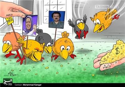 کاریکاتور/ پرندگان مهاجر در خدمت منافقین!!!