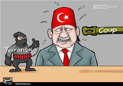کاریکاتور/ کودتای ناکام در ترکیه!