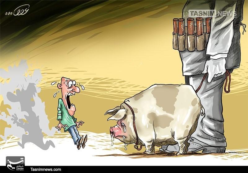 کاریکاتور/ بیوتروریسم و استفاده از حیوانات!