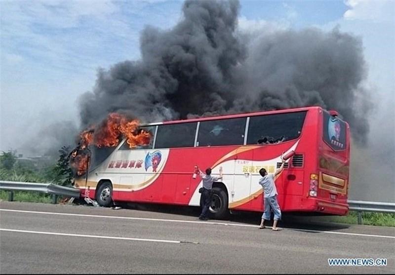 Tourists Die in Taiwan Tour Bus Blaze