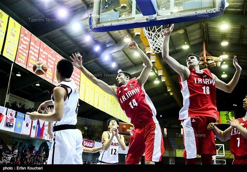 دیدار تیمهای بسکتبال جوانان ایران - ژاپن