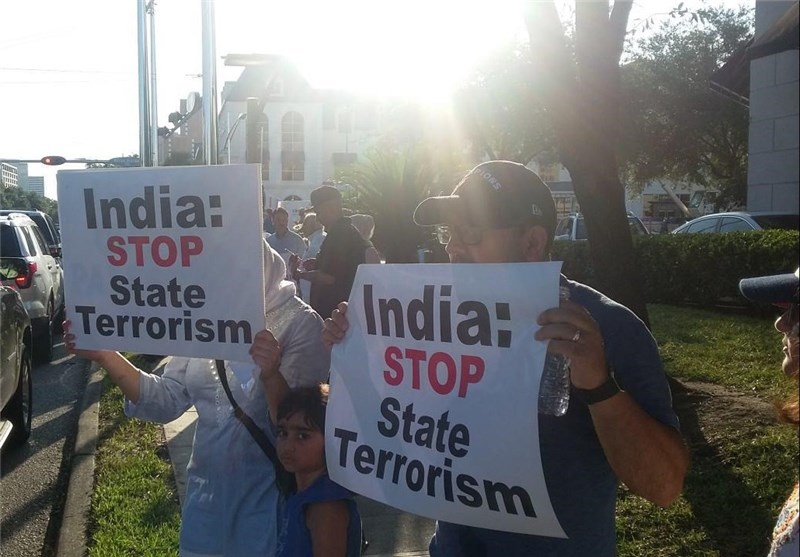 Protest Held in US against India's Crackdown on Muslims in Kashmir