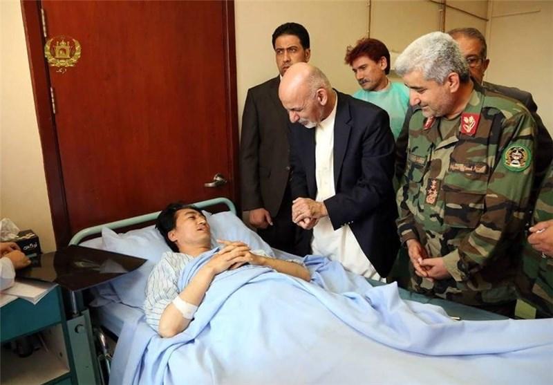 مجروح عضو جنبش روشنایی، عیادت رئیس جمهور افغانستان را نپذیرفت
