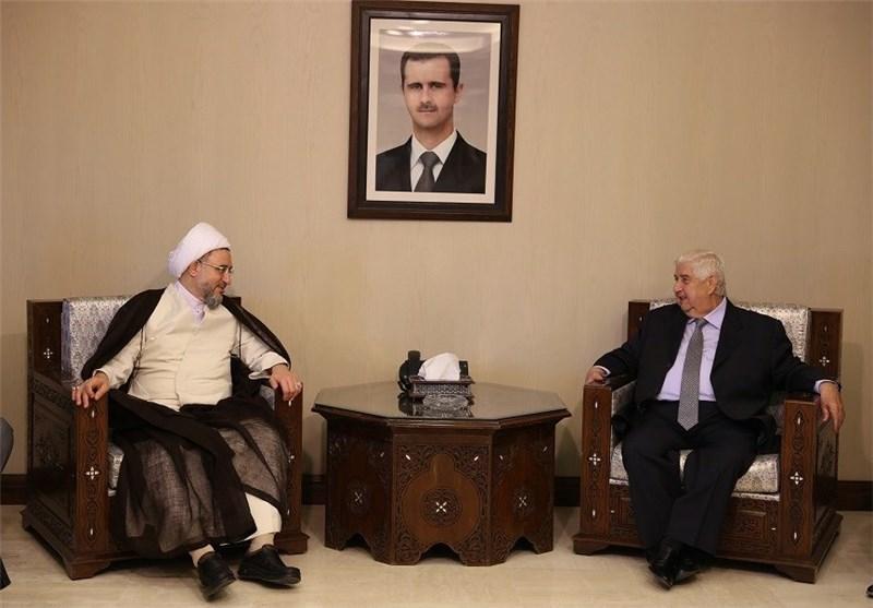 آیة الله أراکی: سوریا تحتل موقعاً مهماً فی العالم الإسلامی +صور