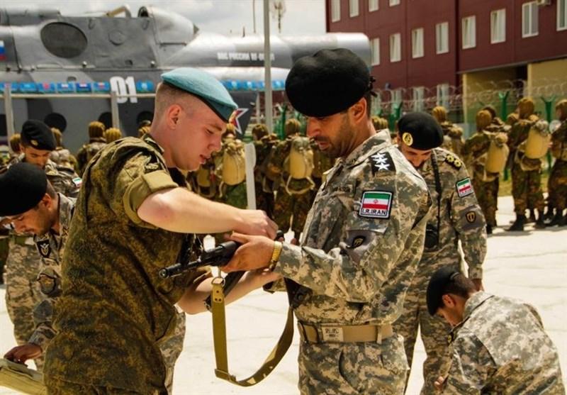 تکاوران ارتش و سپاه در کنار افسران روسیه