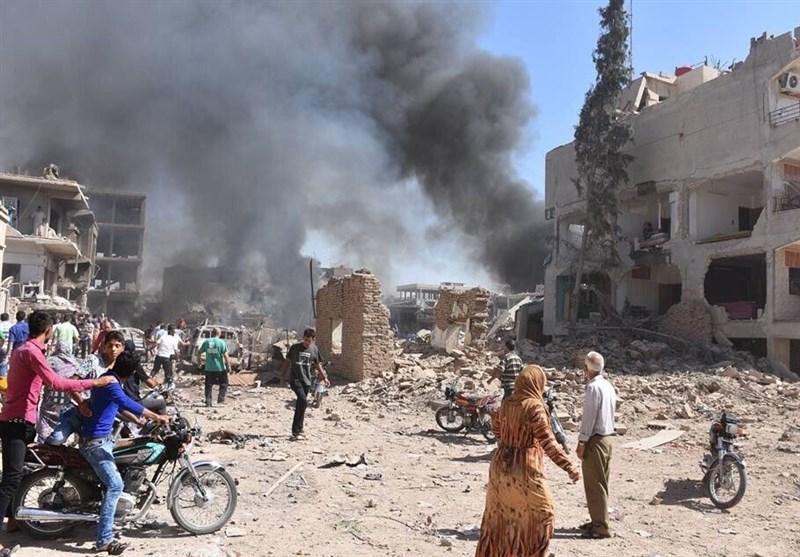 بالصور..عشرات الشهداء والجرحى فی تفجیر إرهابی بالقامشلی السوریة