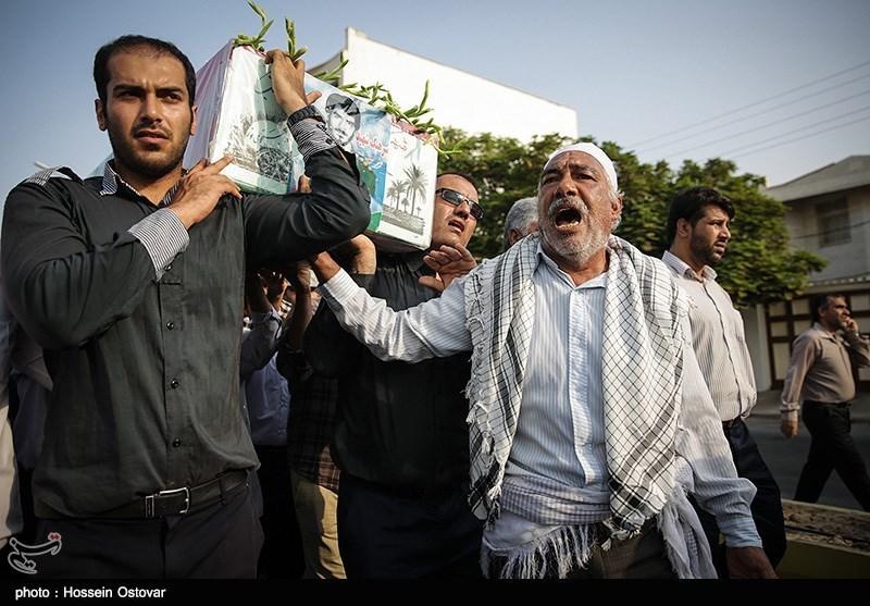 مراسم تشییع شهید حیدر یزدانی - بوشهر