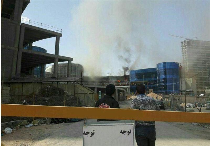 آتش سوزی سیتی سنتر اصفهان