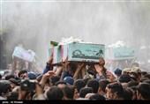 تشییع پیکر چهار شهید گمنام در اصفهان