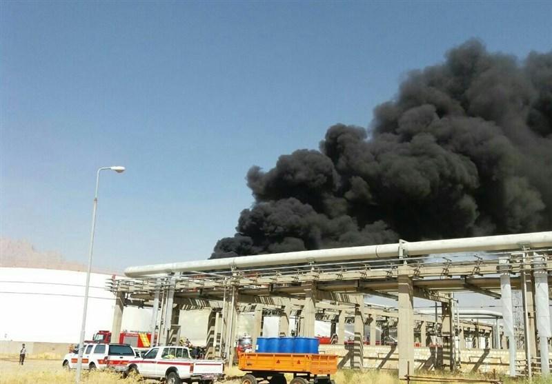 آتشسوزی پتروشیمی کرمانشاه