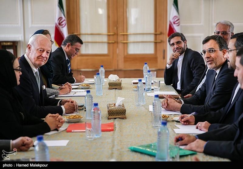 دیدار نماینده دبیرکل سازمان ملل در امور سوریه با جابری انصاری